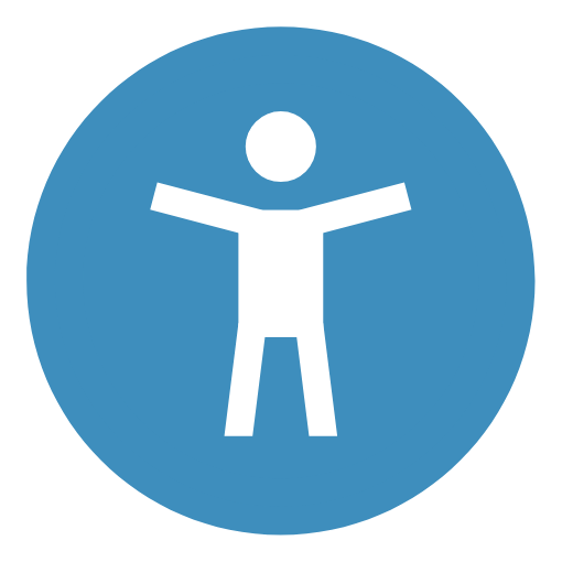 person icon in a blue circle